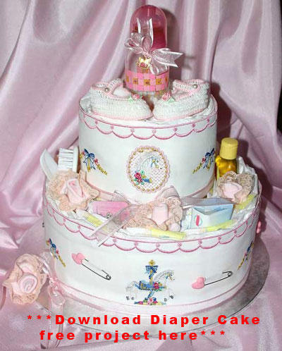 Click Here to Download the Free Diaper Cake Project